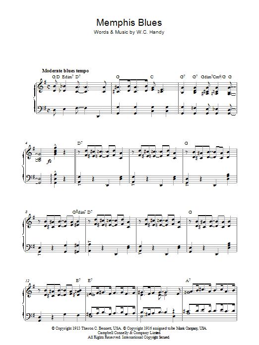 Memphis Blues Sheet Music