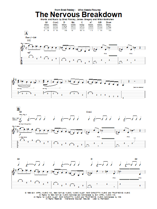 The Nervous Breakdown Sheet Music