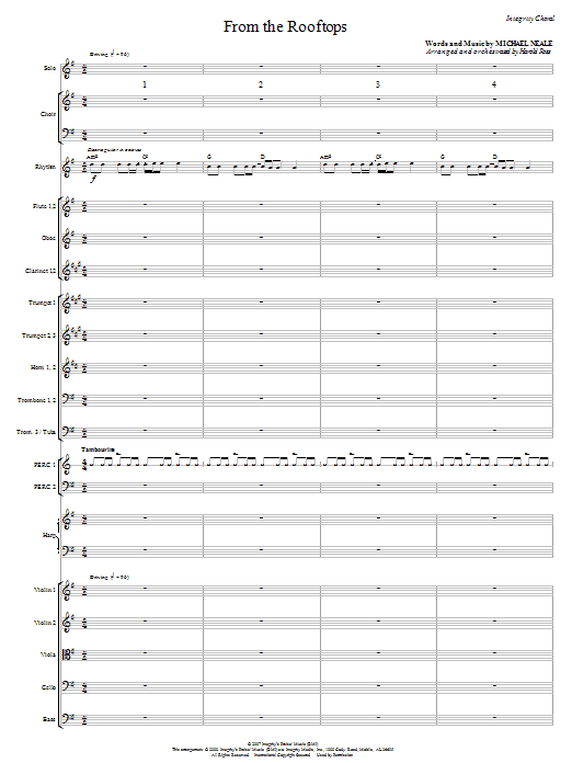 From The Rooftops - Full Score Sheet Music