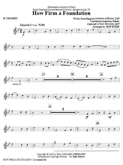 How Firm A Foundation - Trumpet (Choir Instrumental Pak)