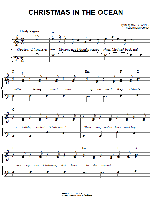 Christmas In The Ocean Sheet Music