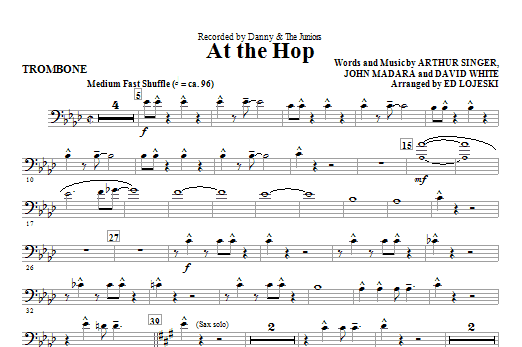 At The Hop - Trombone (Choir Instrumental Pak)