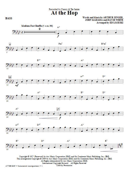 At The Hop - Bass (Choir Instrumental Pak)