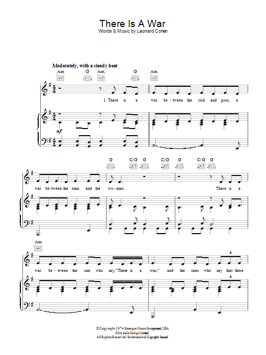 There Is A War Sheet Music