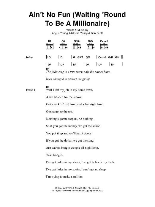 Famous Ain T It Fun Chords Pattern Beginner Guitar Piano Chords
