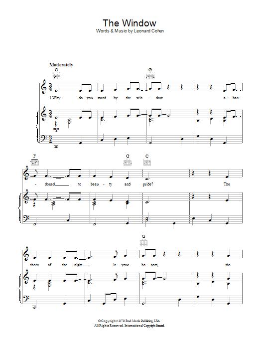 The Window Sheet Music