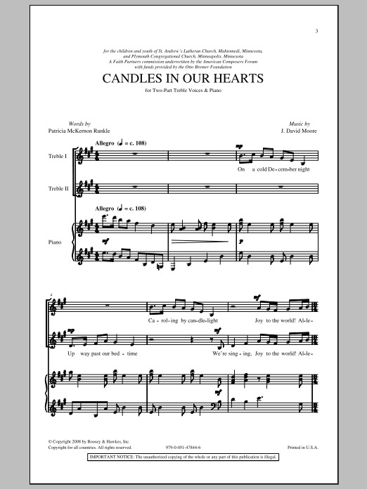 Candle In Our Hearts Sheet Music