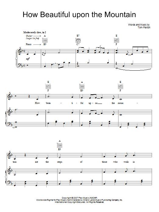 How Beautiful Upon The Mountain Sheet Music