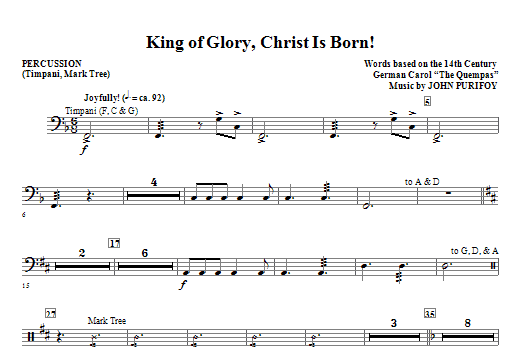 King Of Glory, Christ Is Born! - Percussion (Choir Instrumental Pak)