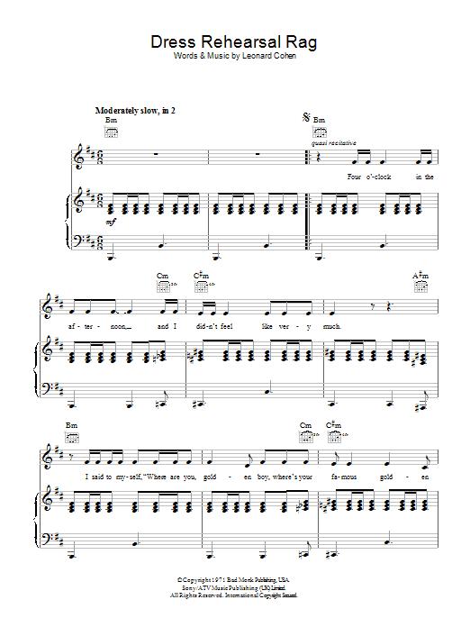 Dress Rehearsal Rag (Piano, Vocal & Guitar)