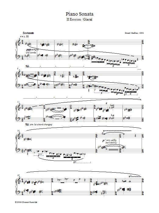 Piano Sonata, II Erosion/Glacial (Piano Solo)