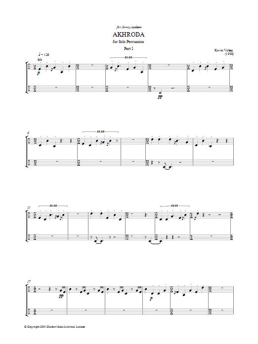 Akhroda, Pt.1 (Piano, Vocal & Guitar)