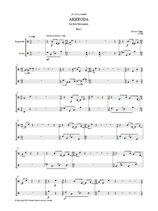 Akhroda, Pt.2 Sheet Music