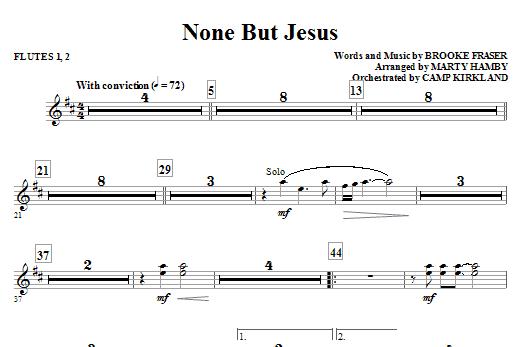 None But Jesus - Flute 1 & 2 (Choir Instrumental Pak)