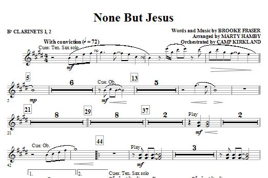 None But Jesus - Bb Clarinet 1 & 2 (Choir Instrumental Pak)