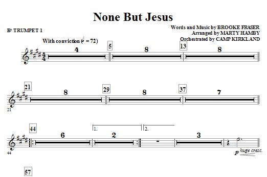 None But Jesus - Bb Trumpet 1 (Choir Instrumental Pak)