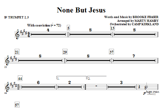 None But Jesus - Bb Trumpet 2,3 (Choir Instrumental Pak)