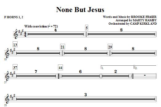 None But Jesus - Horn 1 & 2 (Choir Instrumental Pak)