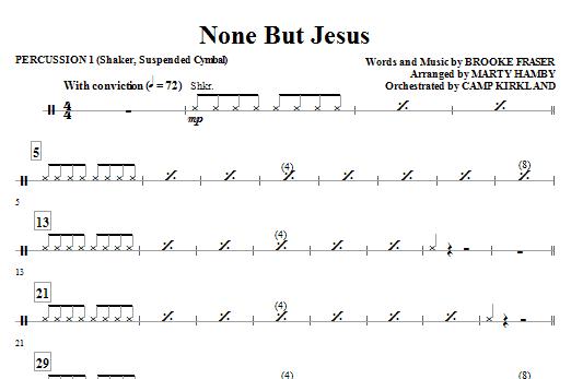 None But Jesus - Percussion 1 (Choir Instrumental Pak)