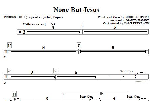 None But Jesus - Percussion 2 (Choir Instrumental Pak)