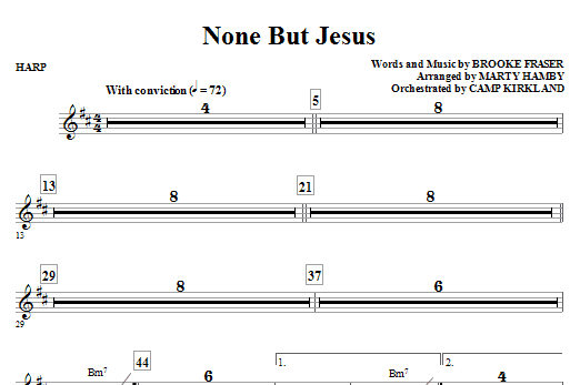 None But Jesus - Harp (Choir Instrumental Pak)