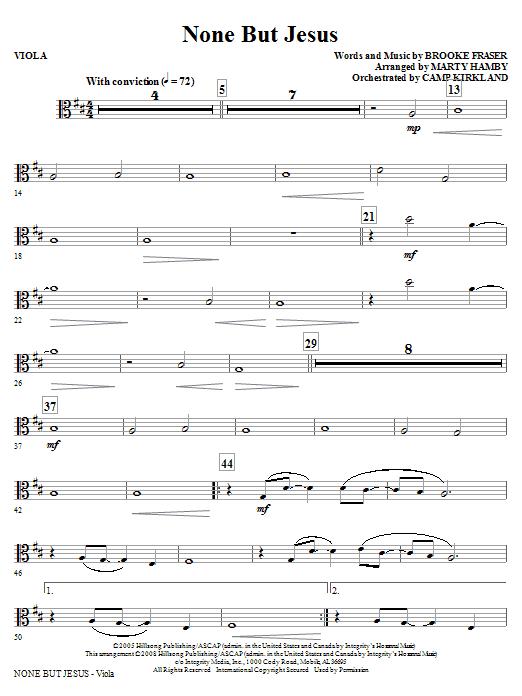 None But Jesus - Viola (Choir Instrumental Pak)