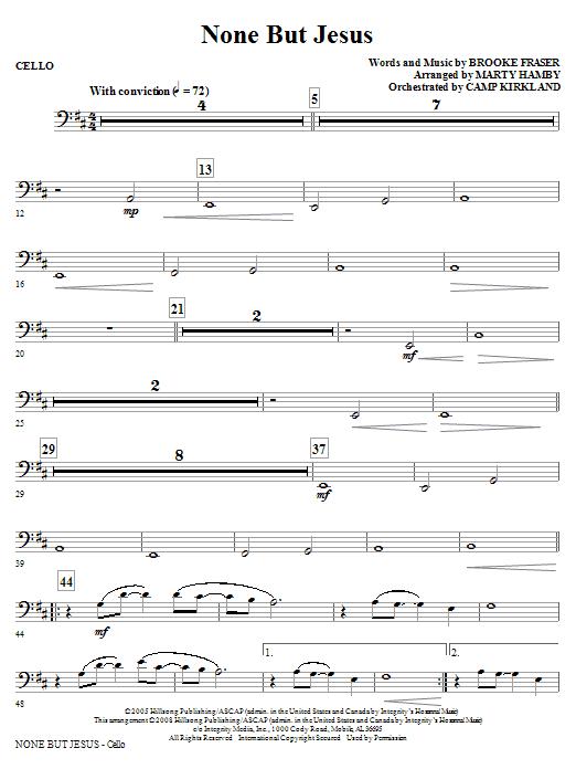 None But Jesus - Cello (Choir Instrumental Pak)