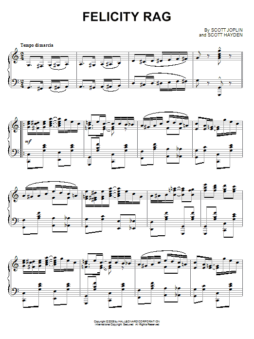 Felicity Rag Sheet Music