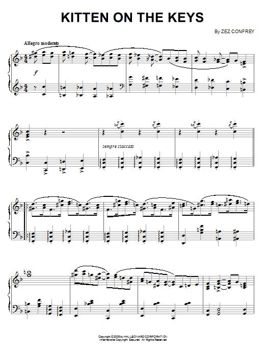 Kitten On The Keys (Piano Solo)