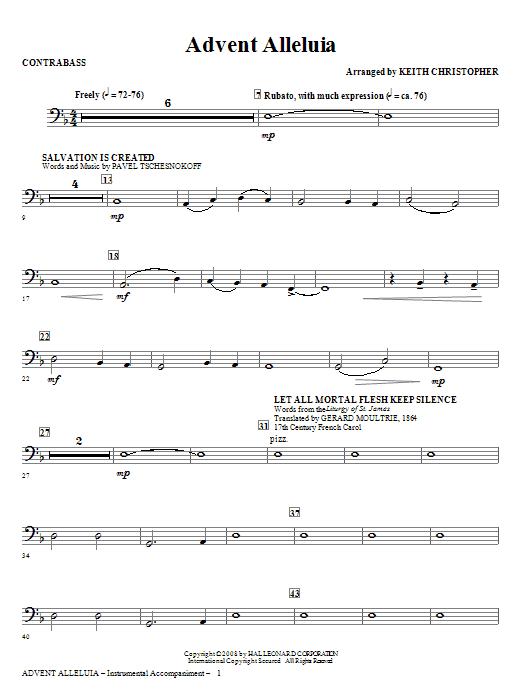 Advent Alleluia - String Bass Sheet Music
