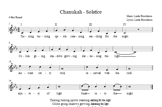 Chanukah - Solstice Sheet Music
