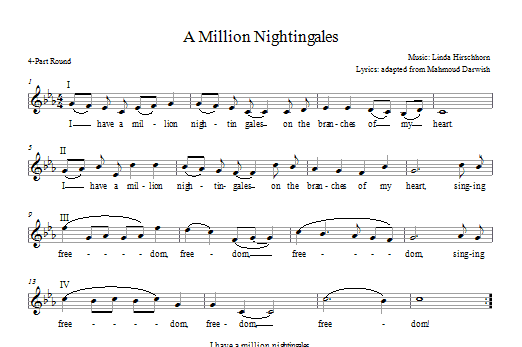 I Have a Million Nightingales Sheet Music