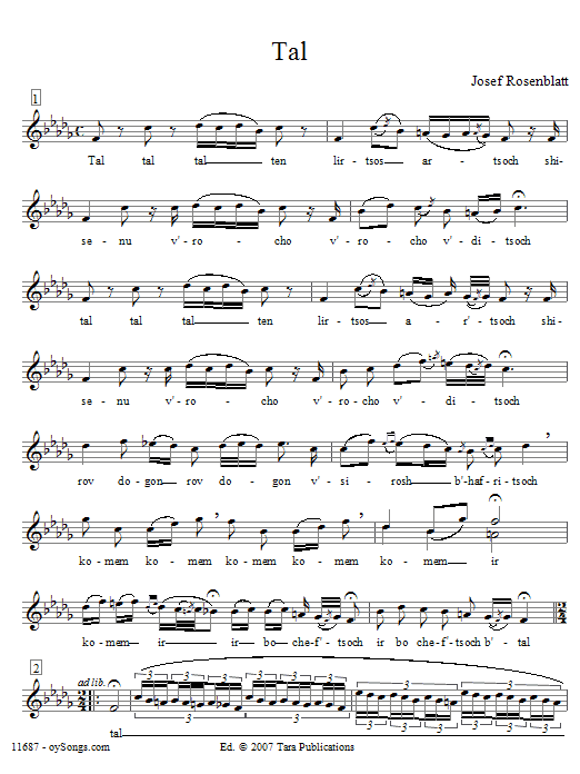 Tal Sheet Music