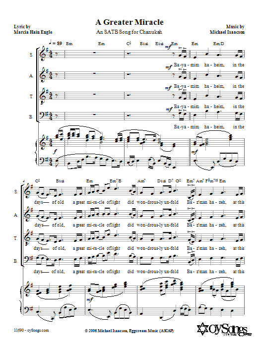 A Greater Miracle Sheet Music