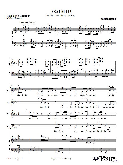 Psalm 113 (Hal'luyah) Sheet Music