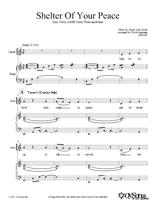 Shelter of Your Peace (SATB Choir)