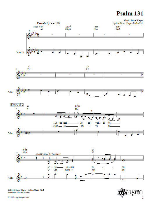 Psalm 131 Sheet Music