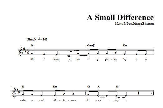 A Small Difference Sheet Music