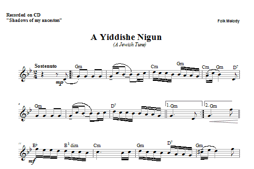 A Yiddishe Nigun Sheet Music