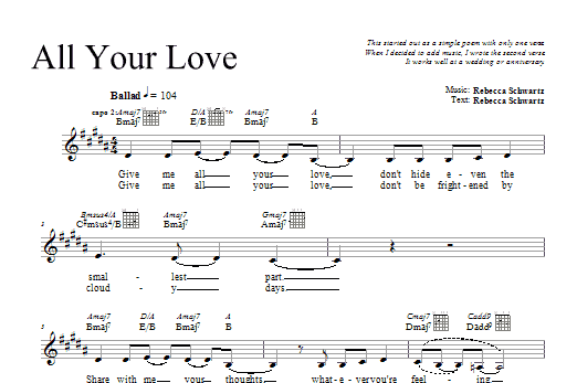 All Your Love Sheet Music
