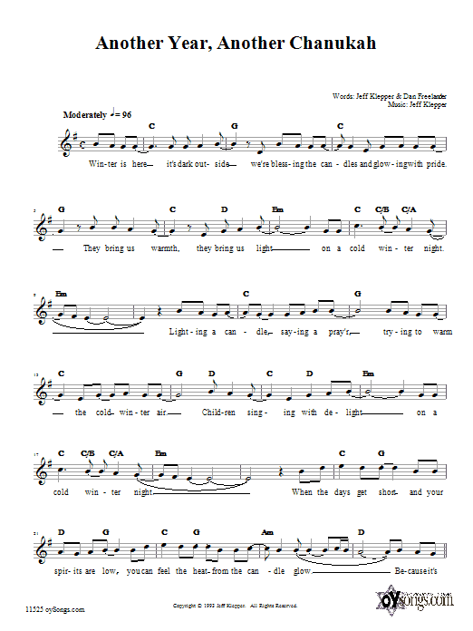 Another Year, Another Chanukah Sheet Music