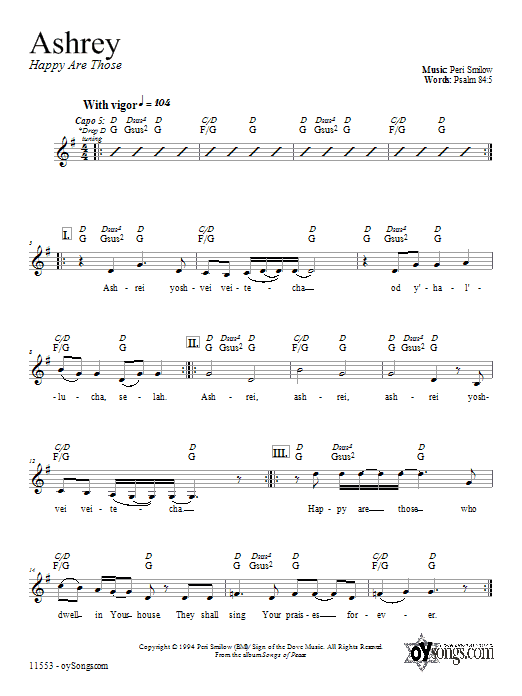 Ashrey Sheet Music