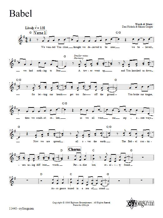 Babel Sheet Music