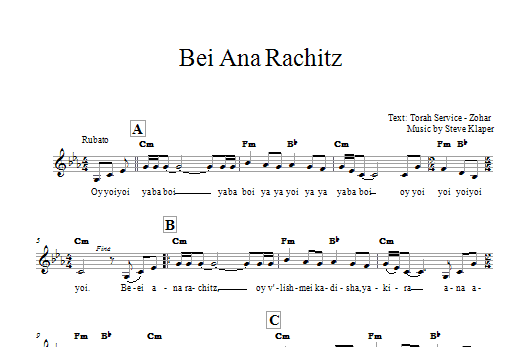 Bei Ana Rachitz Sheet Music