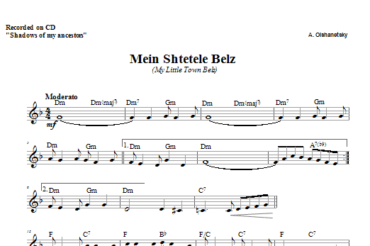 Belz Sheet Music