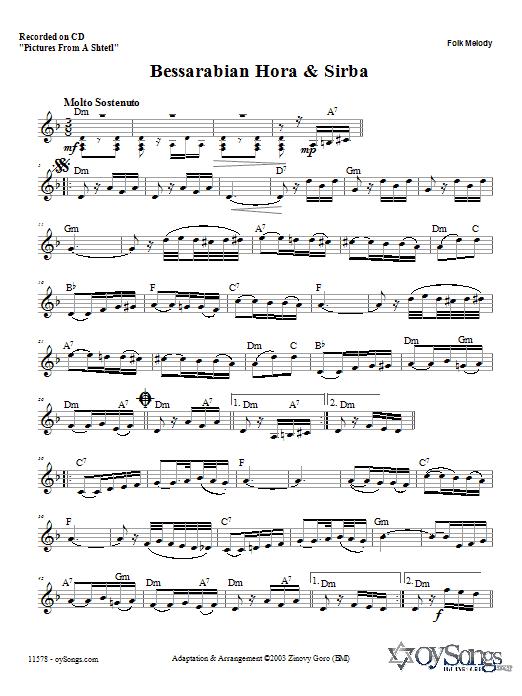Bessarabian Hora and Sirba Sheet Music