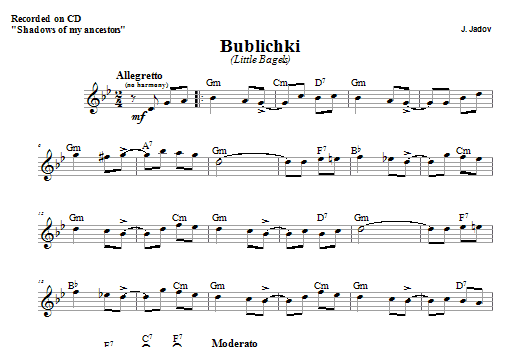Bublichki (Lead Sheet / Fake Book)