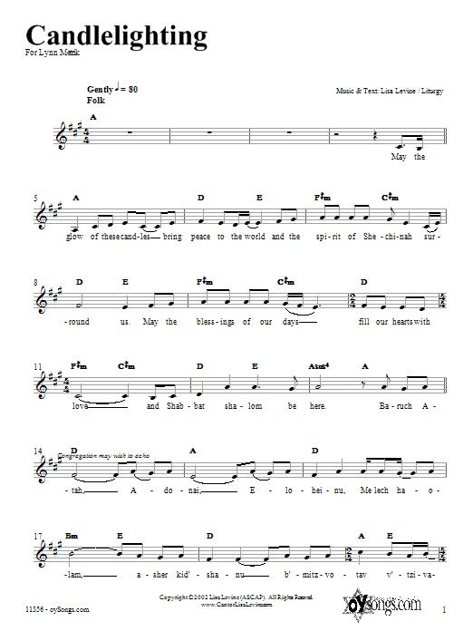 Candlelighting Sheet Music