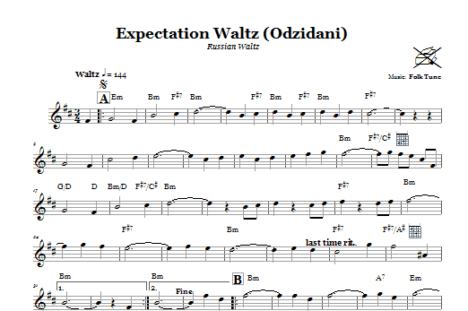 Expectation Waltz (Odzidani) (Russian Waltz) Sheet Music