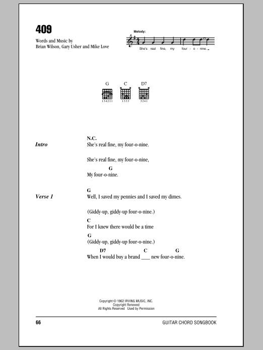 409 (Lyrics & Chords)